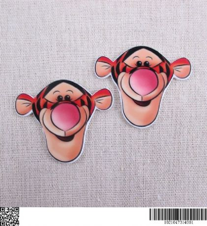 5 x 50mm TIGGER LASER CUT FLAT BACK RESIN HEADBANDS HAIR BOWS CARD MAKING PLAQUES